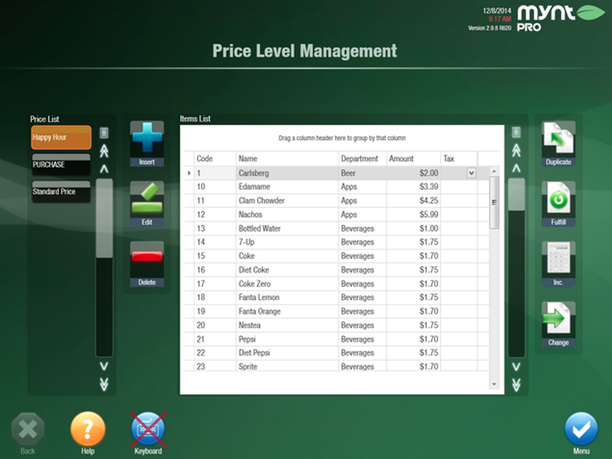 Mynt Price Level Management