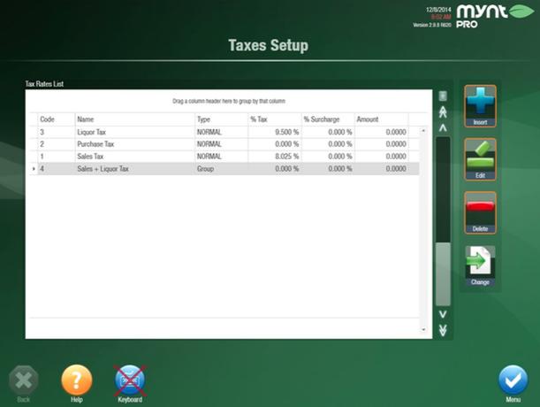 Taxes Setup